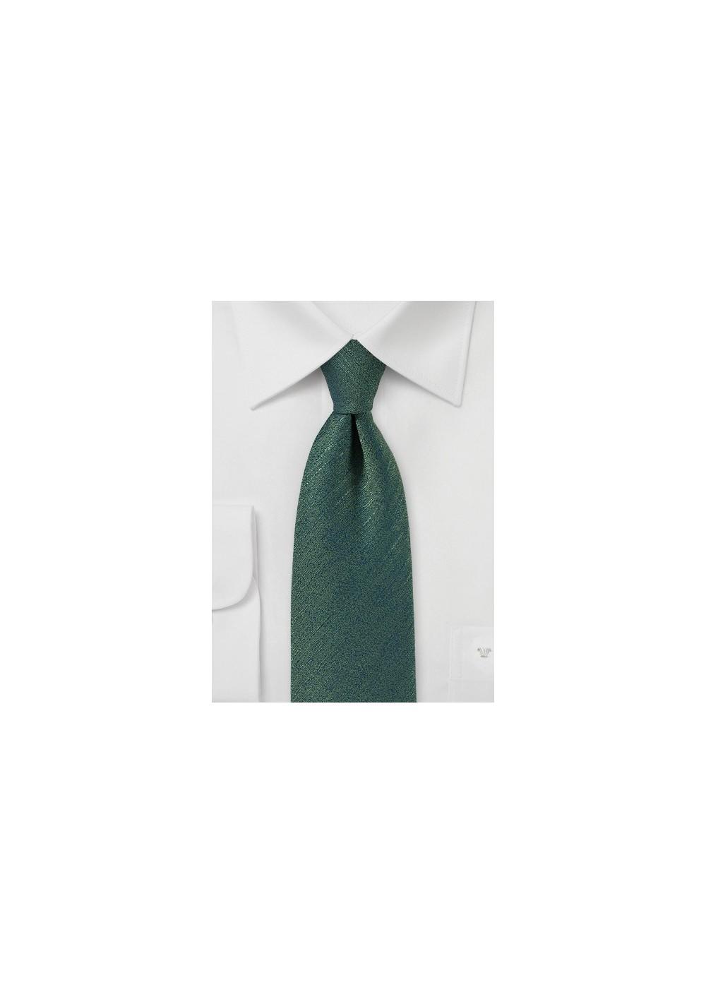 Vintage Textured Tie in Pine Green