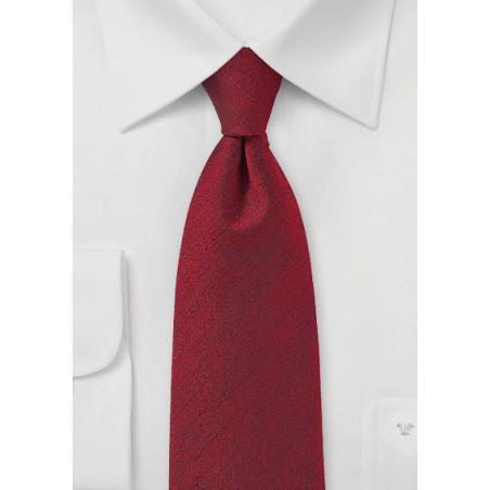 Rosewood Red Textured Tie