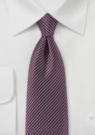 Stripe Tie in Mauve, Burgundy, and Black