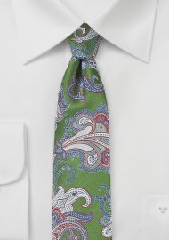 Paisley Summer Tie in Aspen Green