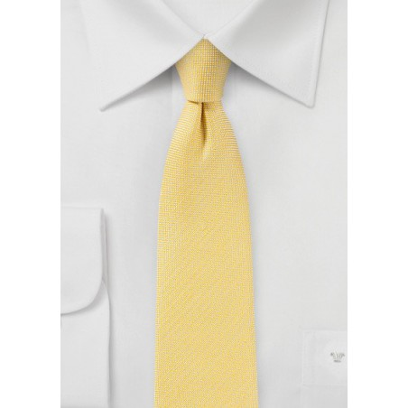 Linen Summer Tie in Banana Cream