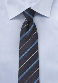 BlackBerry Purple Striped Skinny Tie