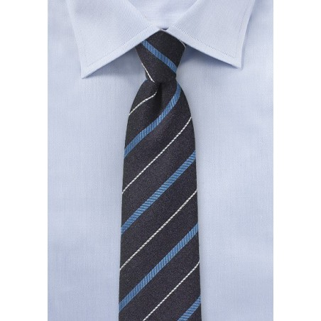 BlackBerry Purple Striped Skinny Tie