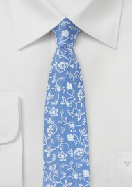 Sky Blue Summer Cotton Tie