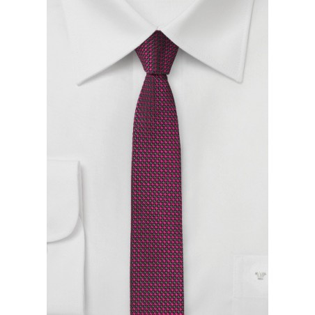 Super Skinny Tie in Watermelon Pink
