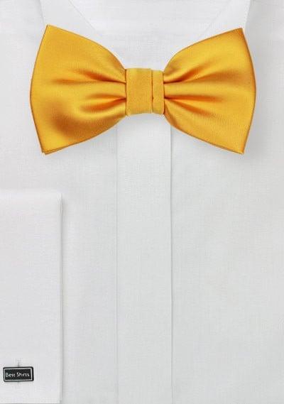 Solid Bow Tie in Golden Saffron