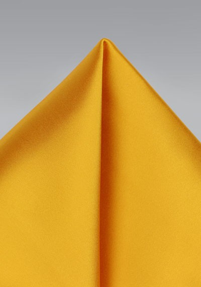 Golden Saffron Pocket Square