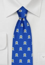Printed Silk Tie for Pi Kappa Phi