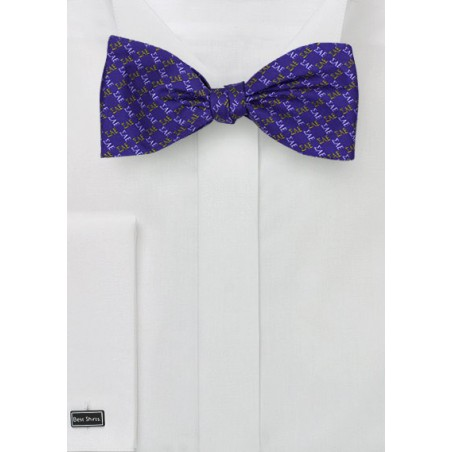 Self Tied Silk Bowtie for SAE