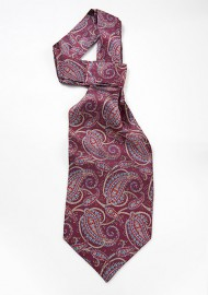 Mens Ascot Tie in Burgundy