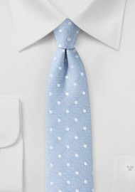Powder Blue Polka Dot Summer Tie