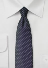 Pin Stripe Tie in Dark BlackBerry