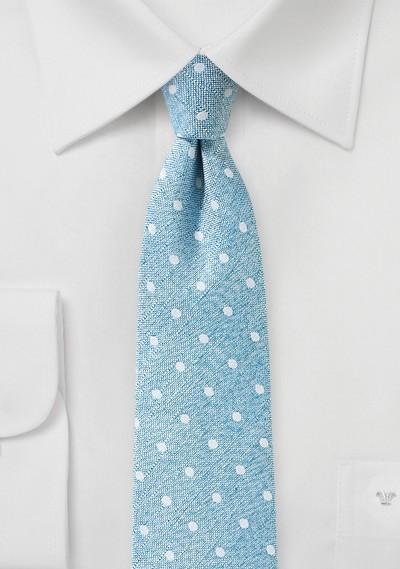 Polka Dot Tie in Aquamarine