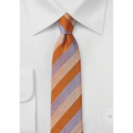 Summer Tie in Orange and Lavender