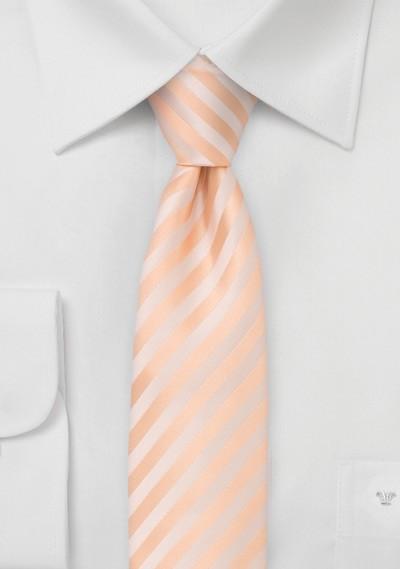 Striped Skinny Tie in Peach