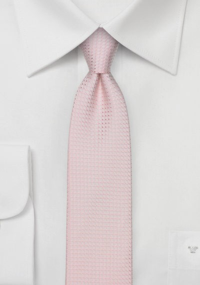 Skinny Pink Textured Summer Tie