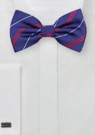 Elegant Repp Stripe Bowtie