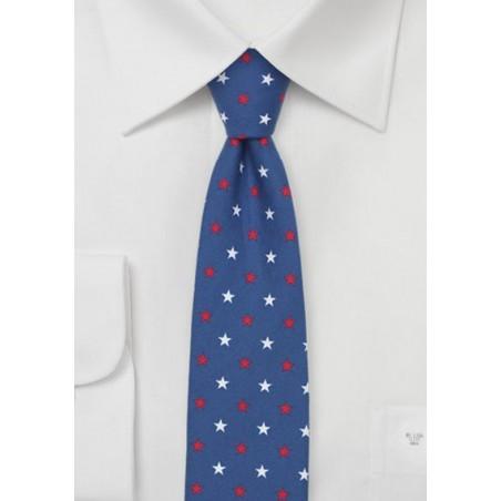 Skinny Necktie with Stars