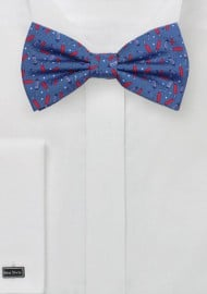 Firecracker Bowtie in Cotton