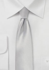 Light Platinum Silver Skinny Tie