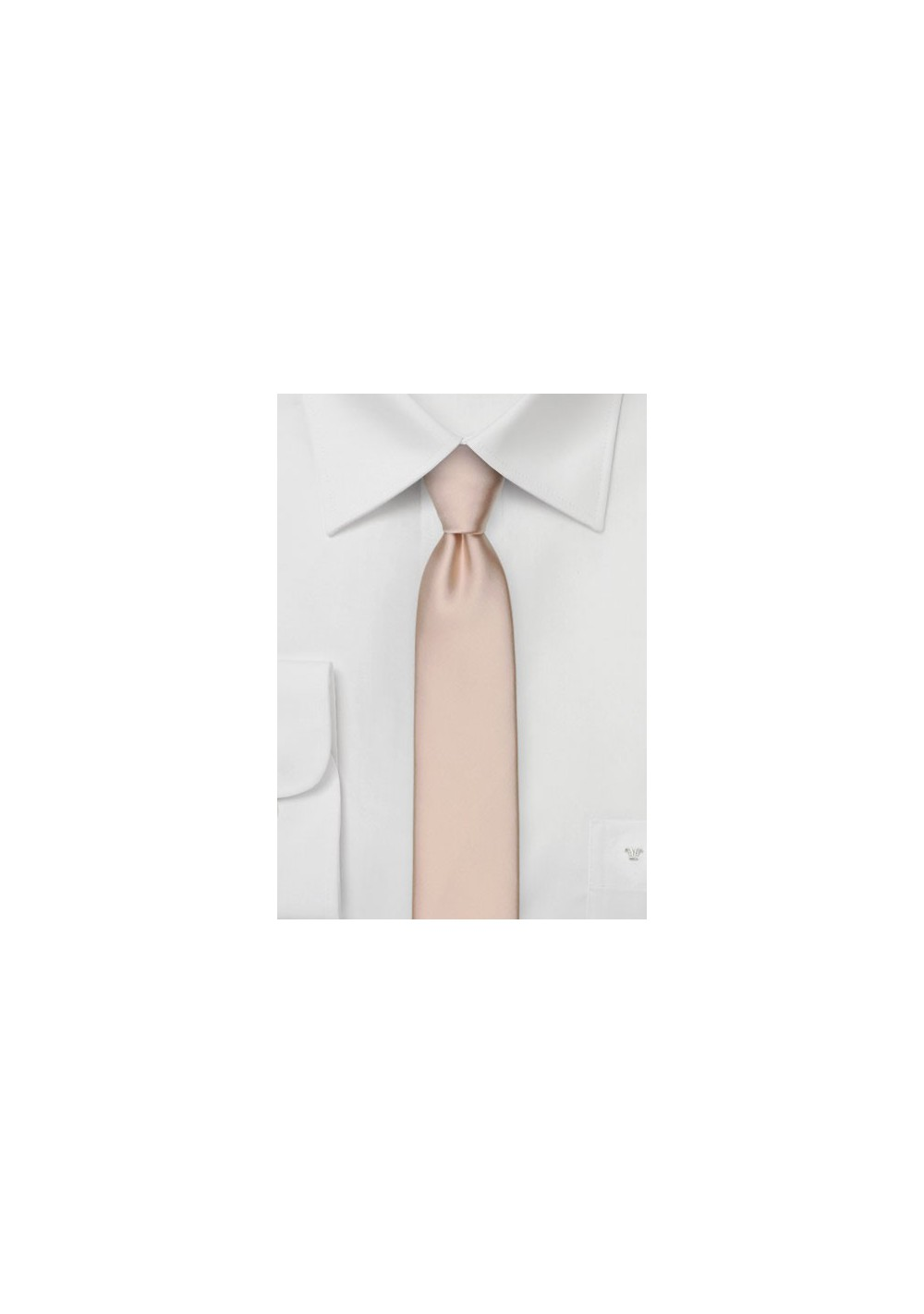 Skinny Tie in Antique Blush