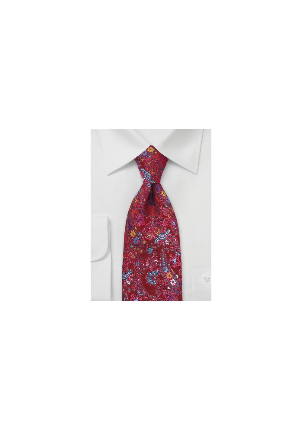 Kids Silk Floral Designer Tie