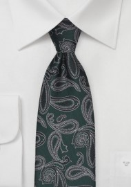 Hunter Green Paisley Tie