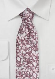 Summer Linen Tie in Faded Red