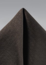 Dark Brown Textured Hanky