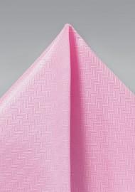Carnation Pink Textured Pocket Square