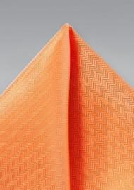 Tangerine Orange Pocket Square
