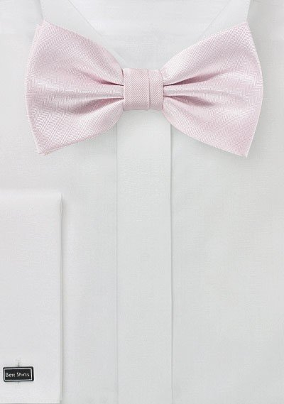 Herringbone Texture Bow Tie in Blush