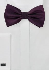 Grape Colored Mens Bow Tie