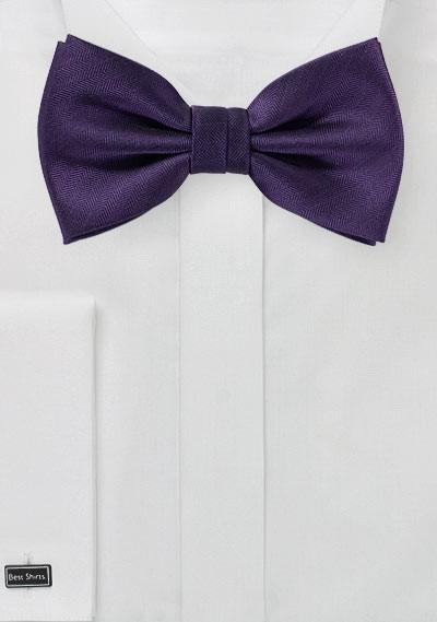 Royal Purple Herringbone Bowtie