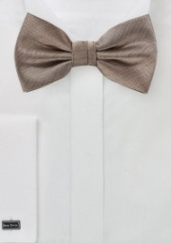 Textured Weave Bow Tie in Bronze Gold