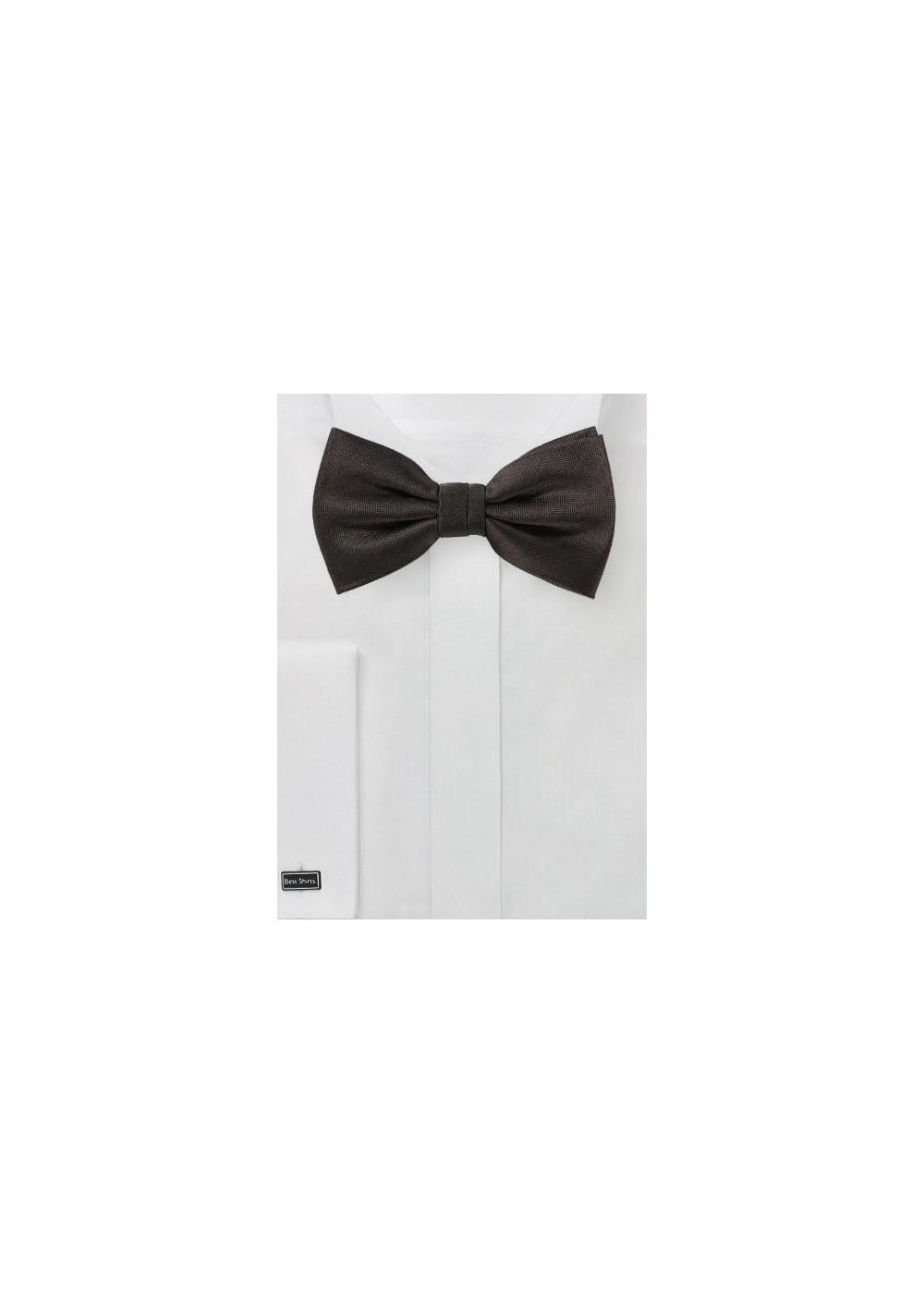 Dark Coco Brown Bow Tie