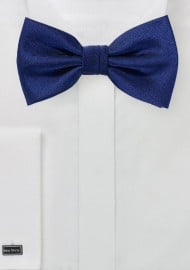 Classic Navy Textured Bow Tie