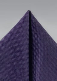 Matte Textured Pocket Square in Purple