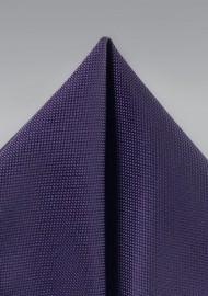 Matte Textured Pocket Square in Purple