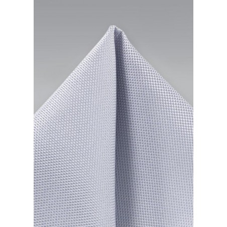 Classic Silver Textured Hanky