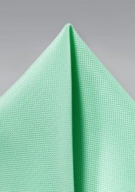 Textured Pocket Square in Mint