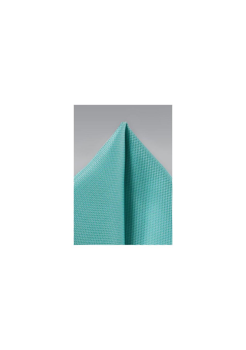 Mermaid Blue Pocket Square