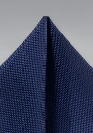 Classic Navy Matte Woven Pocket Square