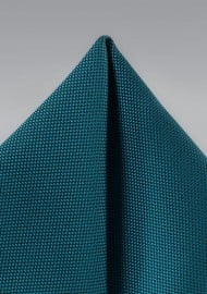 Peacock Matte Woven Pocket Square
