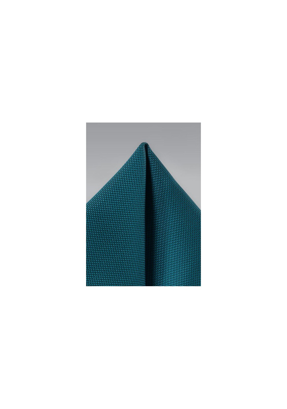 Peacock Matte Woven Pocket Square