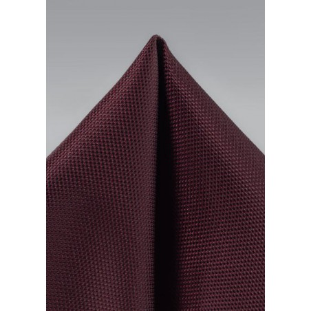 Classic Burgundy Matte Finish Pocket Square