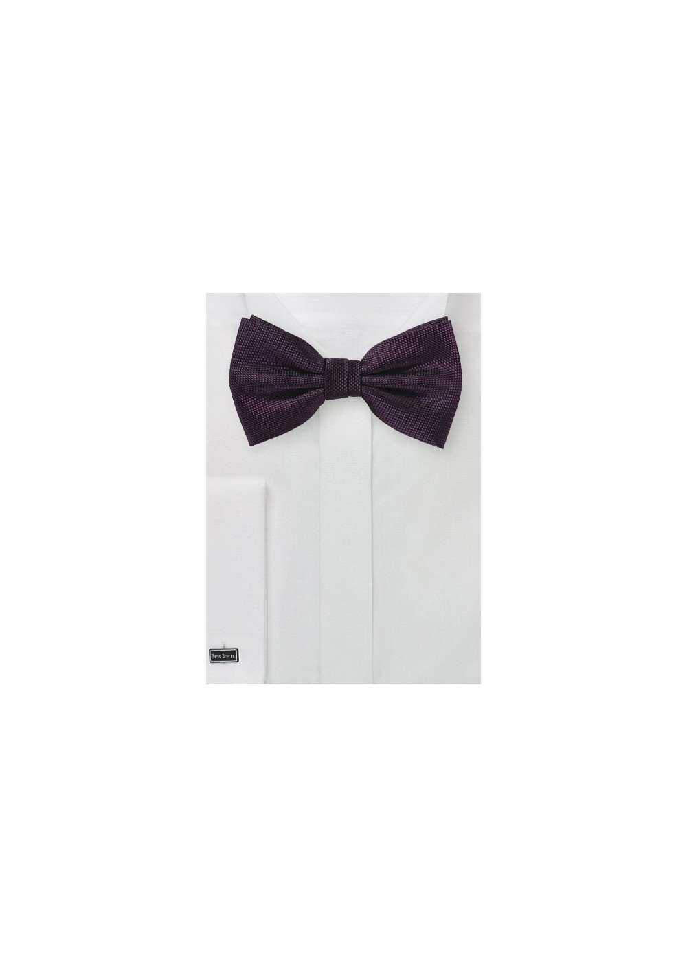 Solid Grape Bowtie in Matte Finish