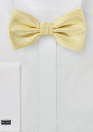 Pastel Yellow Textured Bow Tie