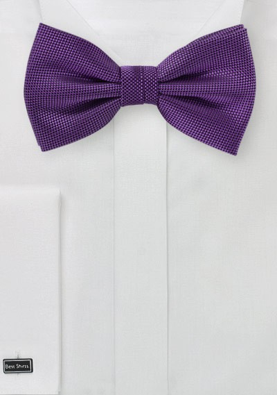 Microcheck Bow Tie in Violet