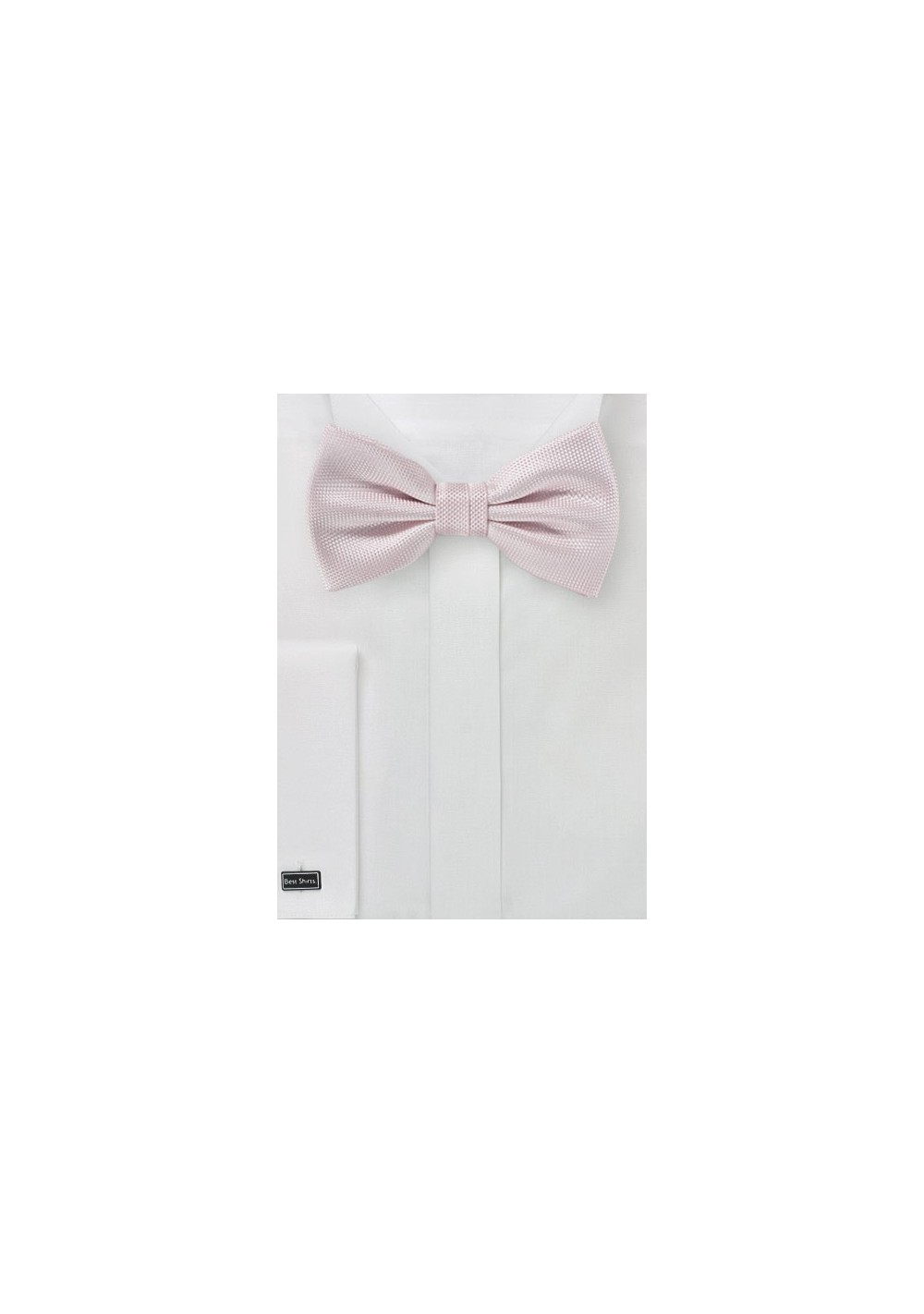 Casual Solid Blush Pink Bowtie